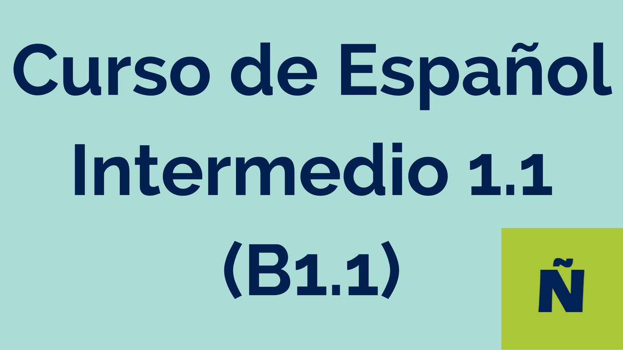 Curso de Español Intermedio 1.1 (B1.1)