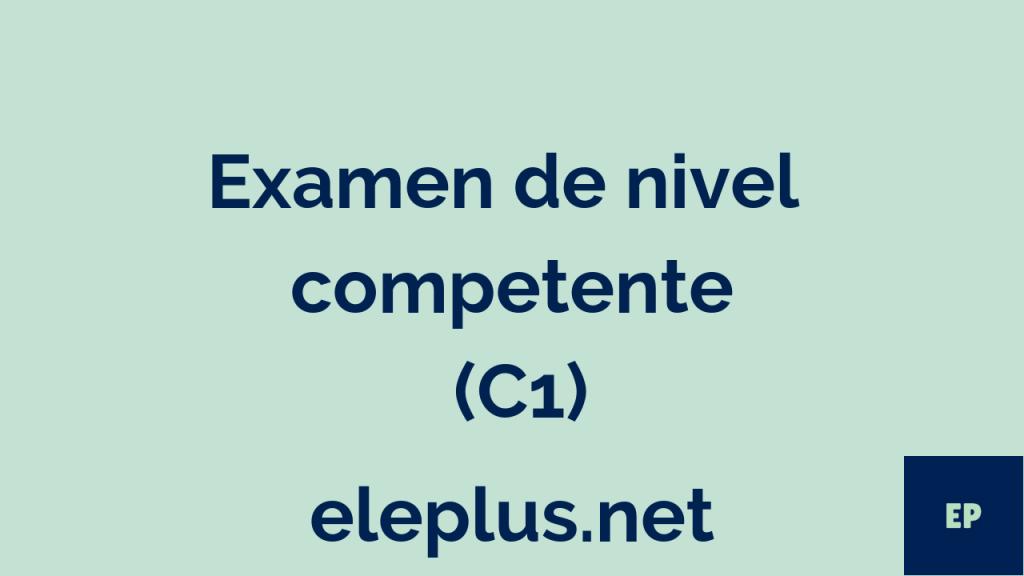 Examen C1 nº1